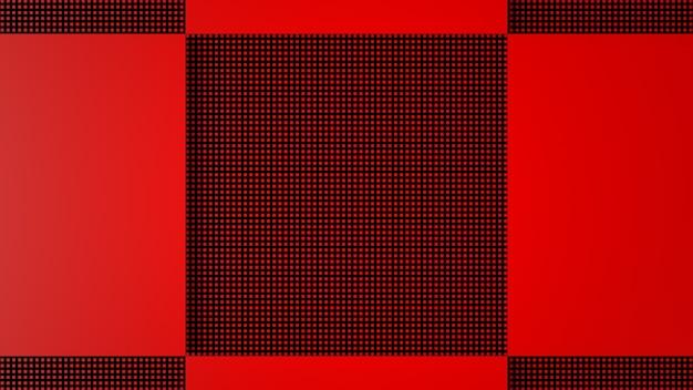 3d render rood zwart abstracte achtergrond