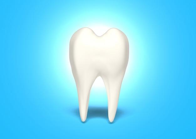 3d render schone tand voor gezond