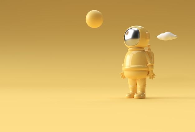 3d render spaceman astronaut kosmonaut 3d illustratie ontwerp.