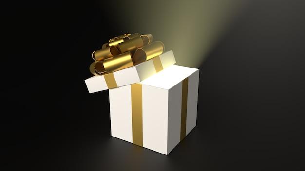 3d render vakantie cadeau voor kerstmis en nieuwjaar