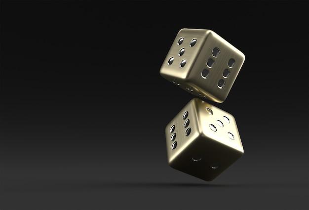 3d render vallende casino dobbelstenen pictogram afbeelding ontwerp.