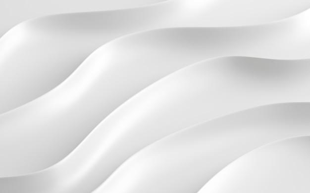 3d render van abstract wit patroon.