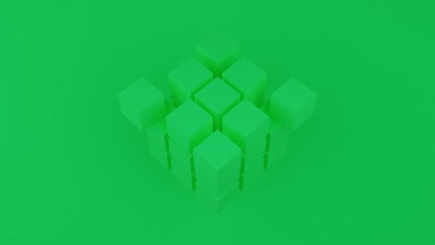 3d render van abstracte achtergrond samenstelling met blokjes.