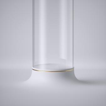 3d render van abstracte futuristisch met doorschijnende buis