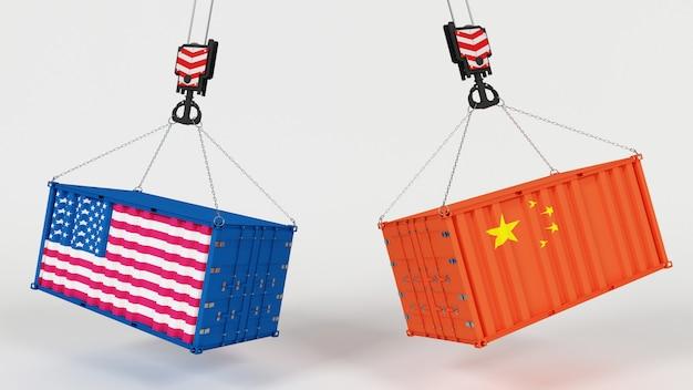 3d render van amerikaanse importverschijnselen