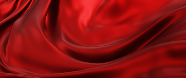 3d render van donkere en rode doek. iriserende holografische folie. abstracte kunst mode achtergrond.