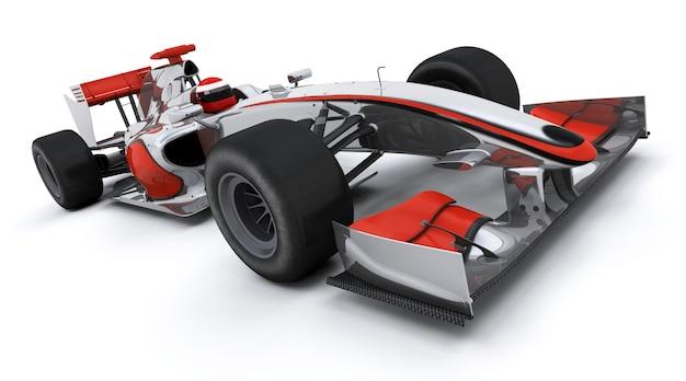 3d render van een formule een racewagen