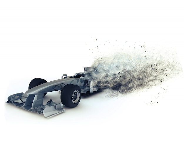 3d render van een generieke racen met speciaal effect beeltenis snelheid