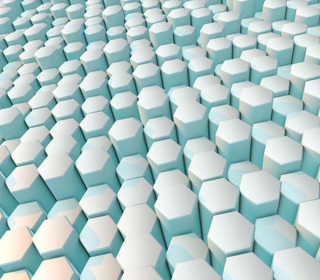 3d render van een moderne abstracte achtergrond met zeshoeken