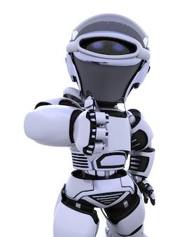 3d render van een robot