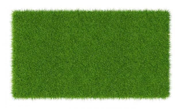 3d render van groen gras. natuurlijke textuurachtergrond. vers de lente groen gras