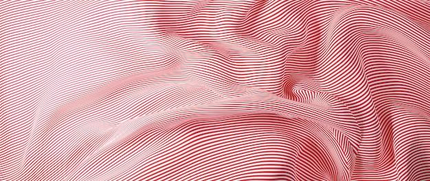 3d render van rode en witte doek