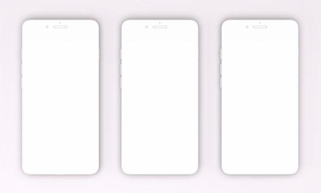 3d render van smartphones