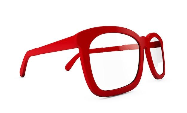 3d render van verschillende bril op wit wordt geïsoleerd