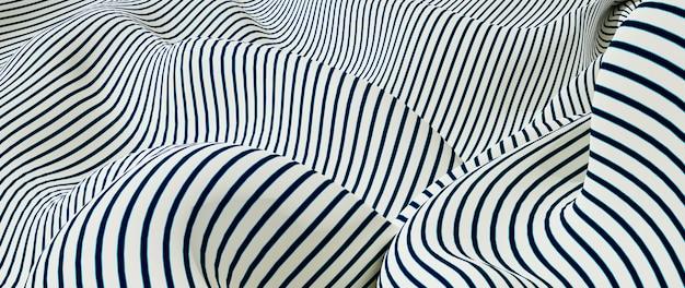 3d render van witte en blauwe doek