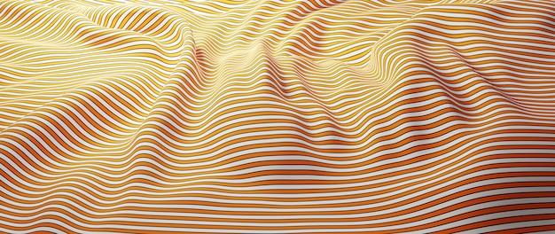 3d render van witte en oranje doek