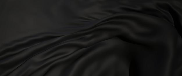 3d render van zwarte doek