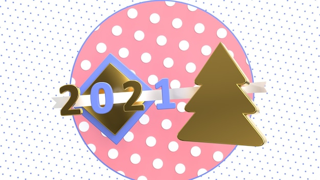 3d render volumetrisch nummer 2021