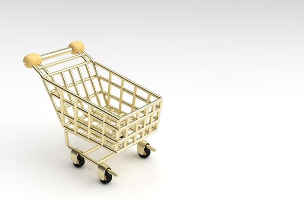 3d render winkelwagen pictogram afbeelding ontwerp.