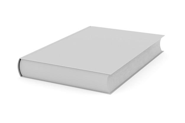 3d render wit boek gesloten geïsoleerd op een witte achtergrond