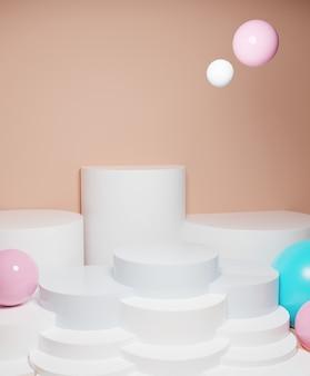 3d render witte lege weergave abstracte achtergrond