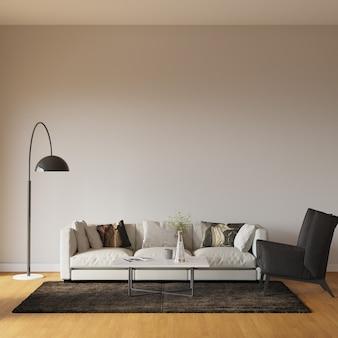 3d render woonkamer interieur