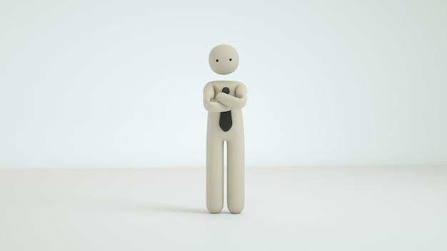 3d render zakelijke pictogram karakter pose