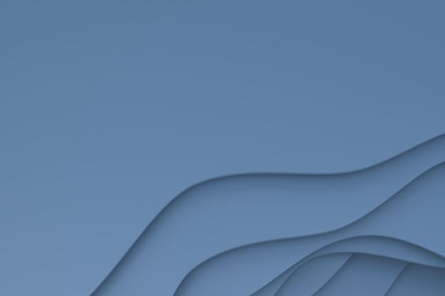 3d-rendering, abstract grijs papier gesneden kunst achtergrondontwerp voor poster sjabloon, grijze achtergrond