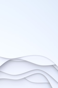 3d-rendering, abstract wit papier gesneden kunst achtergrondontwerp voor poster sjabloon, witte achtergrond, patroon abstracte achtergrond