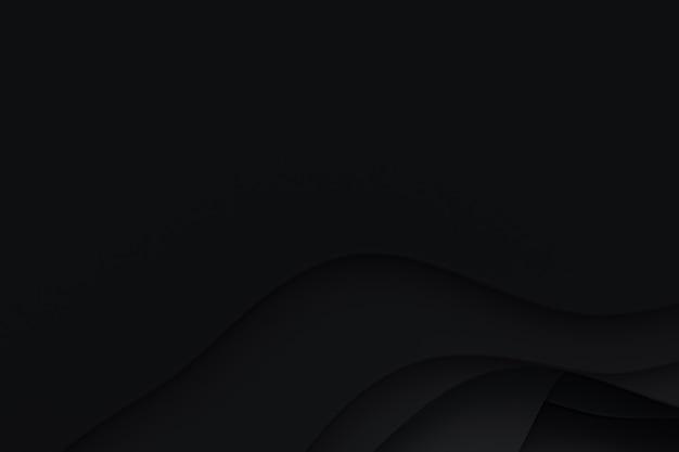3d-rendering, abstract zwart papier gesneden kunst achtergrondontwerp voor websitesjabloon of presentatiesjabloon, zwarte achtergrond