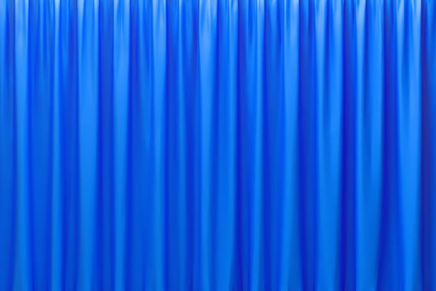 3d-rendering, abstracte blauwe achtergrond luxe doek of vloeibare golf of golvende plooien van grunge zijde textuur satijn fluweel materiaal of luxe achtergrond of elegant behangontwerp, blauwe achtergrond