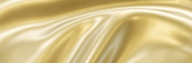 3d-rendering abstracte golvende gouden achtergrond