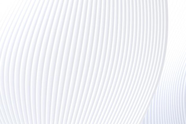 3d-rendering, abstracte muur golf architectuur witte achtergrond, witte achtergrond voor presentatie, portfolio, website