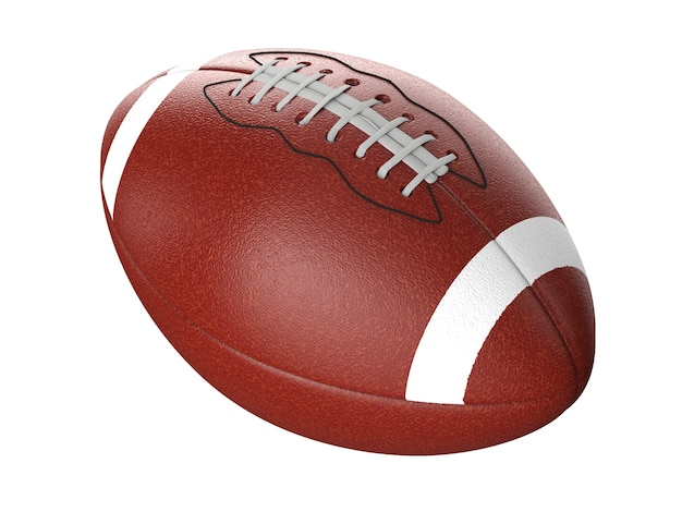 3d-rendering amerikaanse voetbal bal geïsoleerd op wit