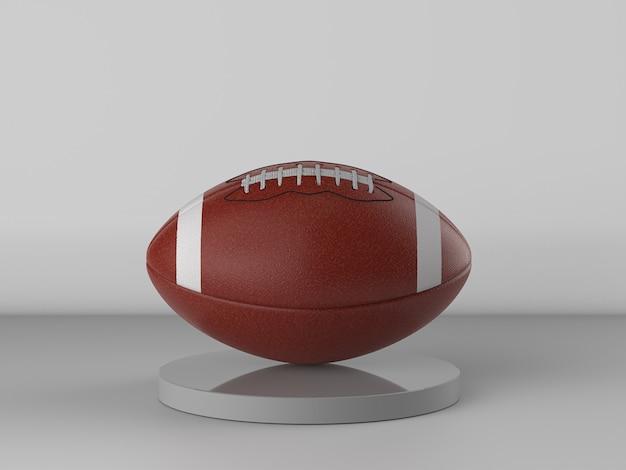 3d-rendering amerikaanse voetbal bal op grijze achtergrond
