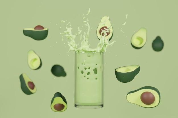 3d-rendering avocado-sap