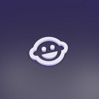 3d-rendering, baby gezicht schets teken 3d