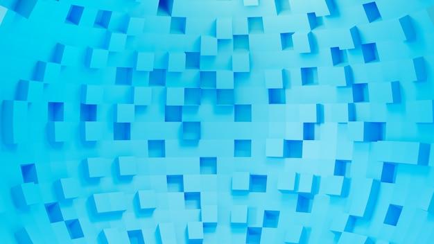 3d-rendering blauw vierkant.