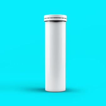 3d-rendering bruisende fles geïsoleerd op toscha