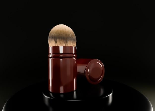 3d-rendering, cosmetische borstel.