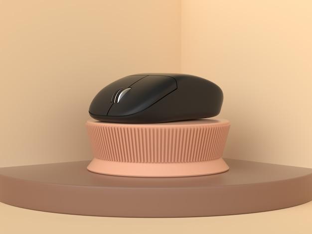 3d-rendering draadloze computermuis