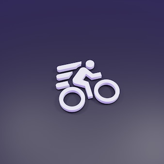 3d-rendering, fiets snel teken