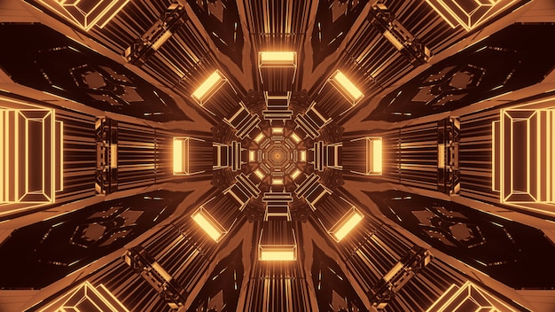 3d-rendering futuristische sci-fi techno lichten - een coole achtergrond
