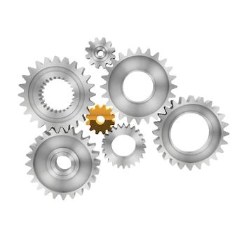 3d-rendering gears geïsoleerd