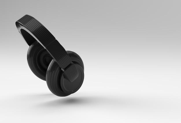 3d-rendering gele koptelefoon geïsoleerd op een witte achtergrond.