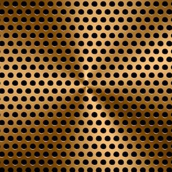 3d-rendering gouden metalen schermachtergrond