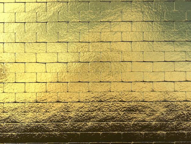 3d-rendering gouden muur achtergrond