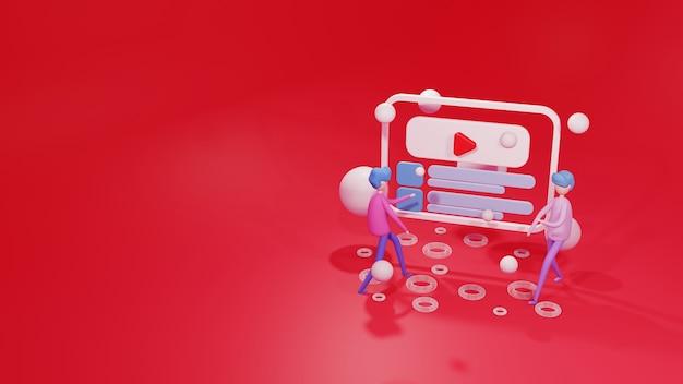 3d-rendering illustratie website sjabloon
