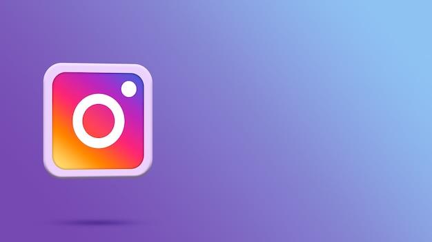 3d-rendering instagram-logo