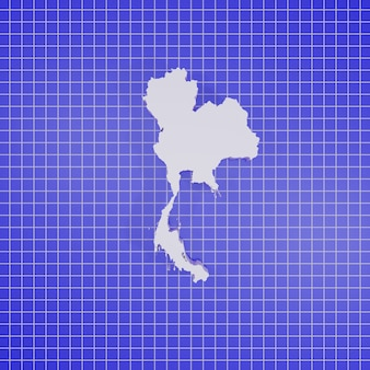 3d-rendering kaart thailand